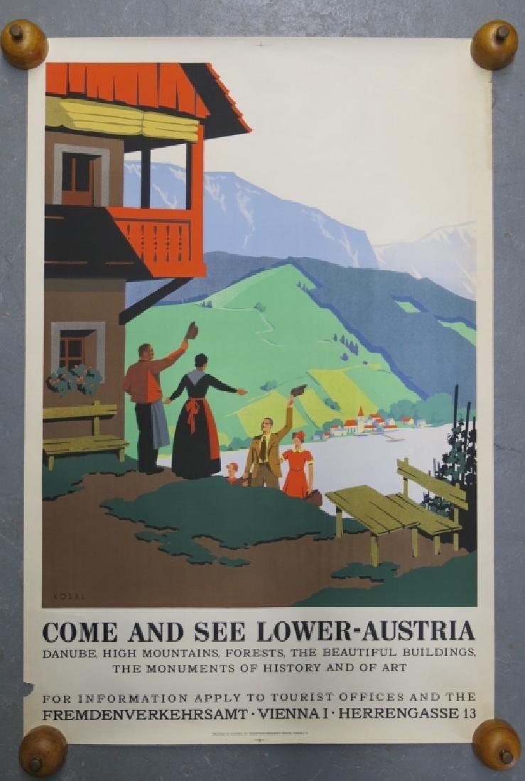 AUSTRIAN TRAVEL POSTER, 1935