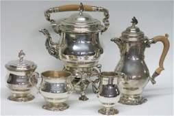 FIVE PIECE HALLMARKED ENGLISH SILVER TEA SERVICE