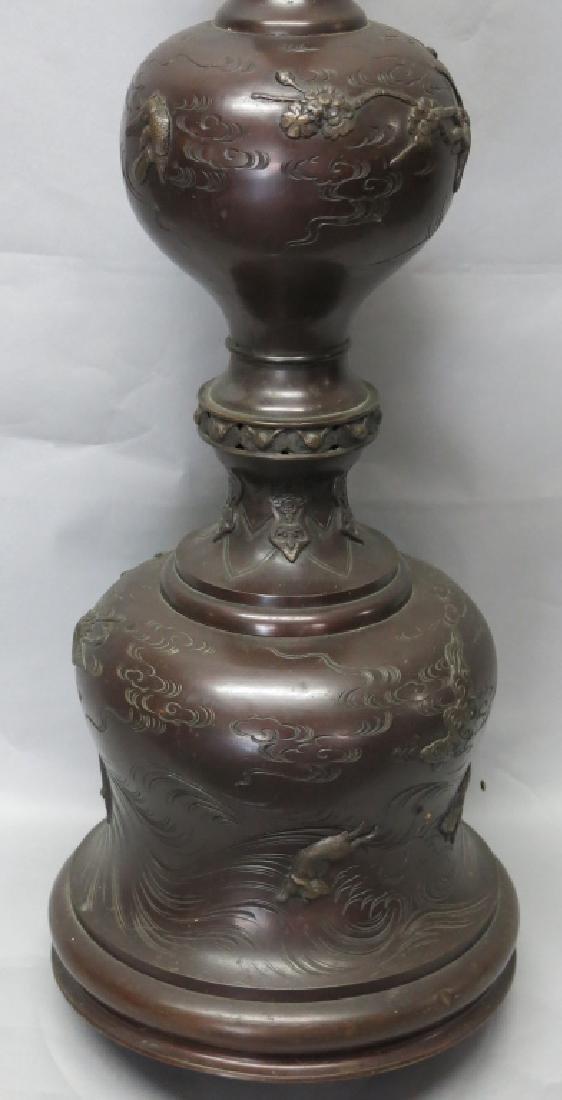 CHINESE BRONZE FLOOR LAMP - 3