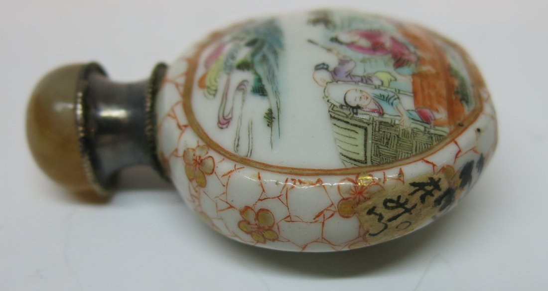 FINE CHINESE PORCELAIN SNUFF BOTTLE - 6