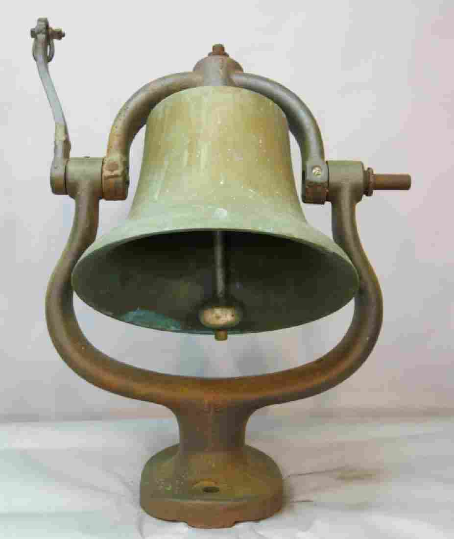 LRG. BRONZE STEAM LOCOMOTIVE BELL - NYC RAILROAD