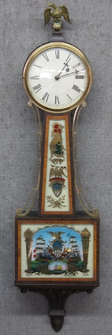 FINE MAHOGANY CASE WALTHAM BANJO CLOCK