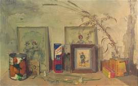 """LOUIS GEORGE BOUCHE """"JUST THINGS"""" STILL LIFE OIL"""