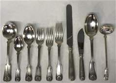 TIFFANY  CO STERLING FLATWARE SET  93 PIECES