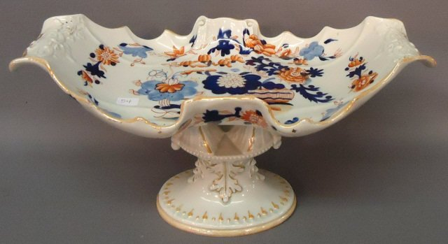 54: MASON'S IRONSTONE CENTERPIECE COMPOTE EARLY 19TH C.