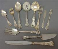 136 STERLING SILVER FLATWARE SERVICE BY TOWLE