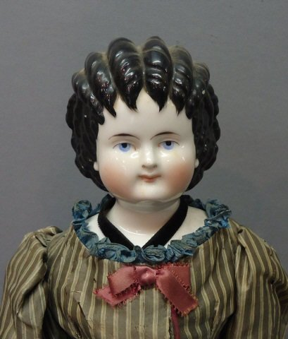 3: GERMAN CHINA HEAD DOLL 'CURLY TOP'