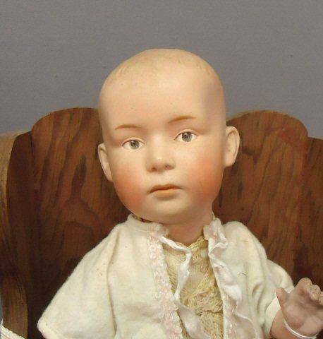 19: GEBRUDER HEUBACH POUTY BOY CHARACTER BABY DOLL