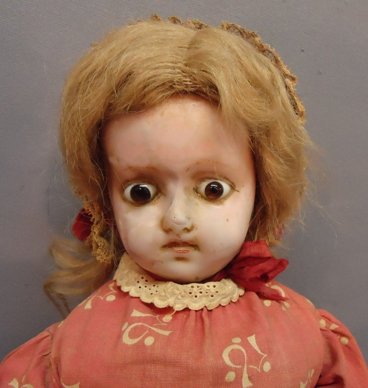 11: WAX OVER COMPOSITION SHOULDER HEAD DOLL