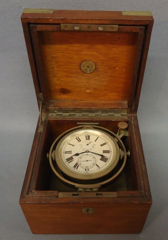 107: C. 1940 LONGINES CHRONOMETER DECK WATCH