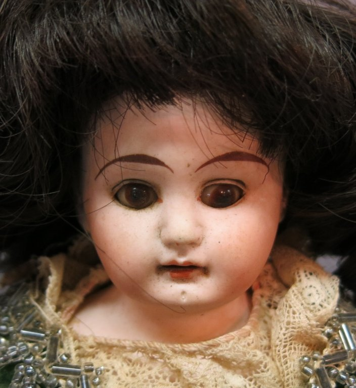 SMALL GERMAN BISQUE HEAD DOLL