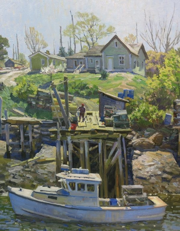 OIL PAINTING ON BOARD BY T. M. NICHOLAS