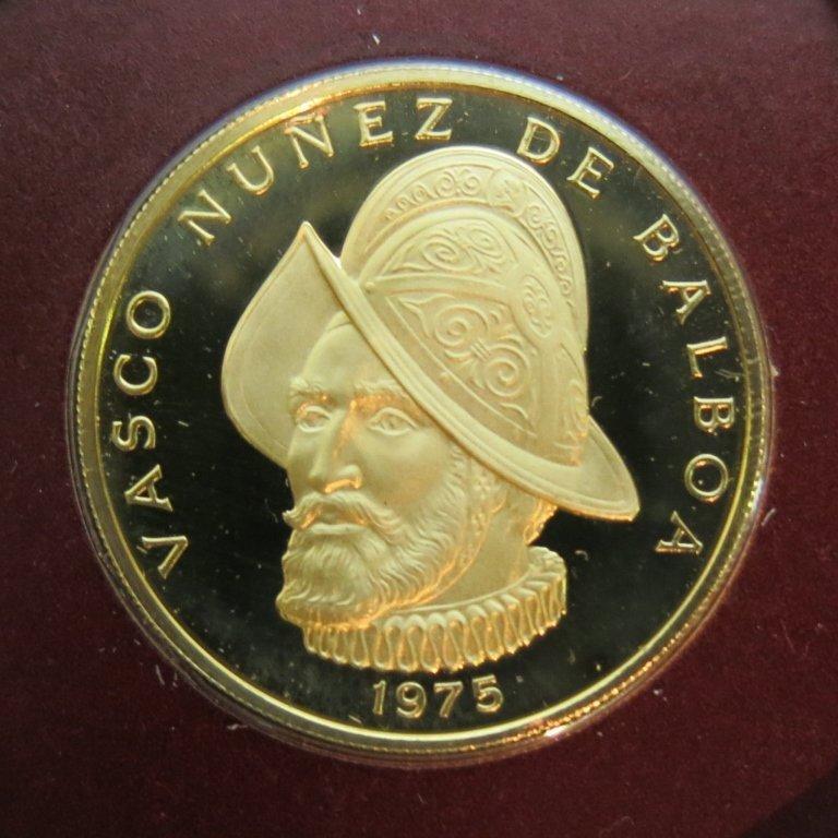 PANAMA 100 BALBOA 1975 GOLD COIN