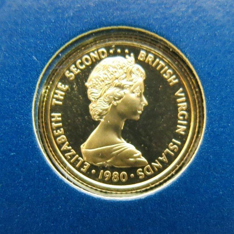 BRITISH VIRGIN ISLANDS 1980 $25 GOLD COIN
