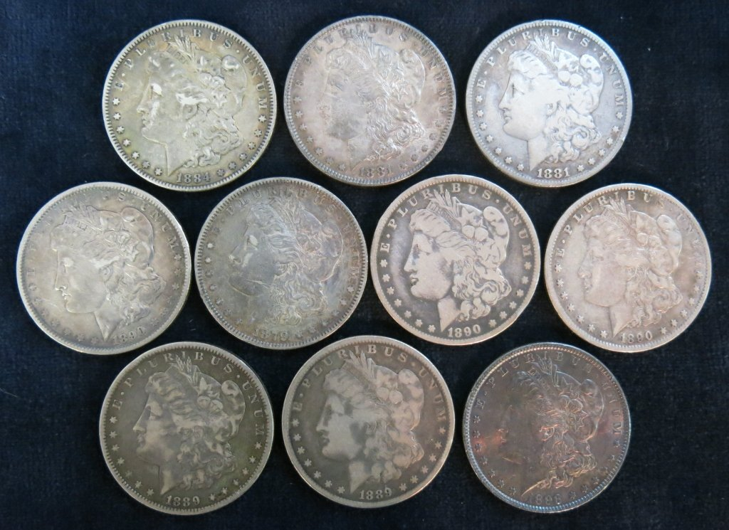 LOT OF 10 SILVER DOLLARS