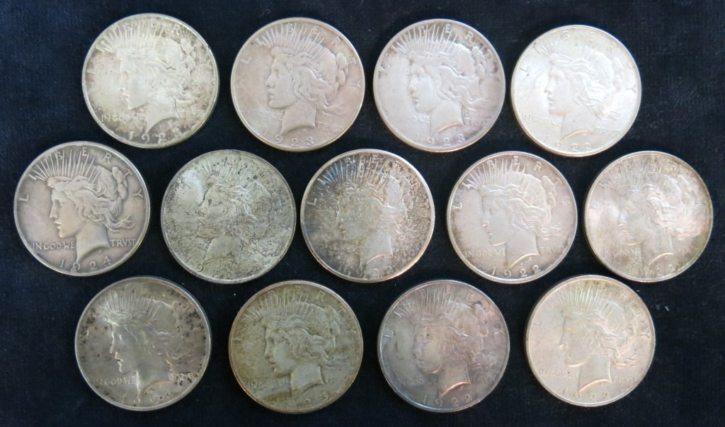 LOT OF 13 SILVER DOLLARS