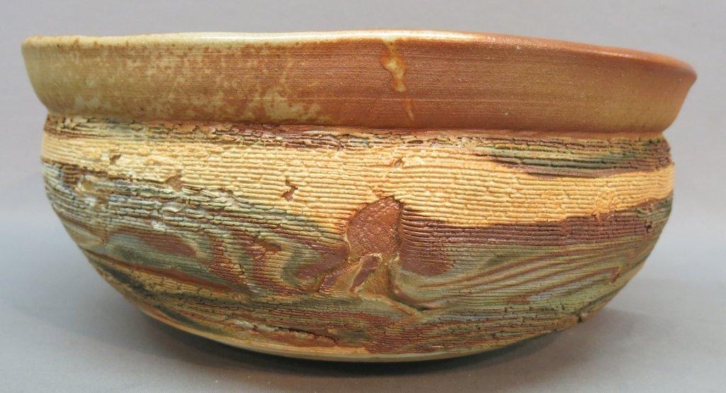 LARGE MAKOTO YABE ART POTTERY BOWL - 3