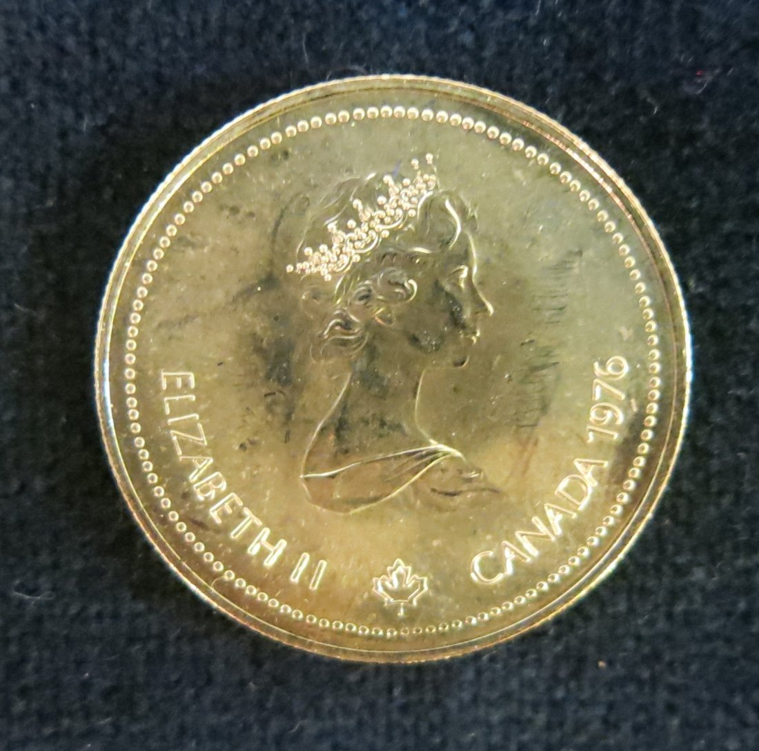 CANADIAN $100 OLYMPIC GOLD COIN - 1976