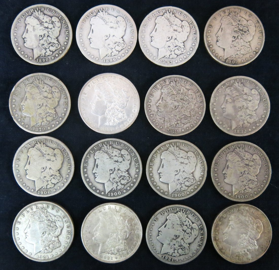 LOT OF 16 SILVER DOLLARS