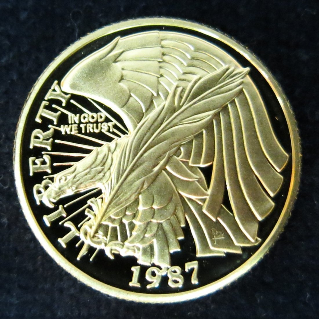 US 1987 CONSTITUTION $5 GOLD PROOF COIN