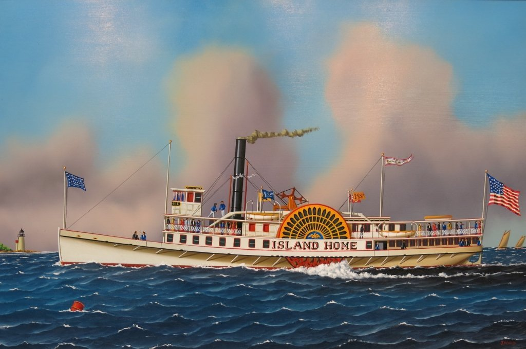 """JEROME HOWES OIL PAINTING OF THE """"ISLAND HOME"""""""
