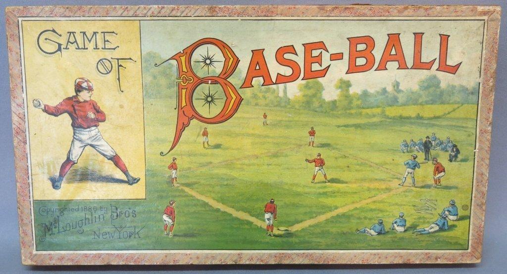 RARE 19TH C. MCLOUGHLIN BROS. GAME OF BASEBALL