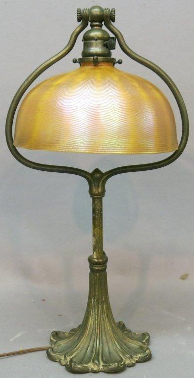 TIFFANY STUDIOS BRONZE LAMP #569