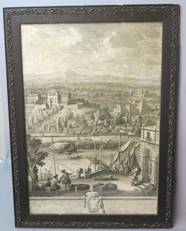 PAIR OF EARLY ENGRAVINGS OF ROME BY GIUSEPPE VASI