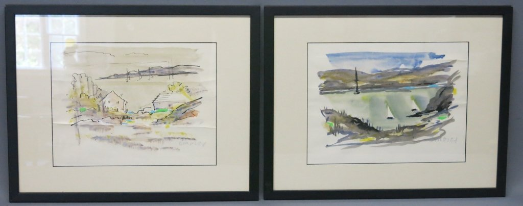 PAIR OF WATERCOLORS BY ALFRED BIRDSEY