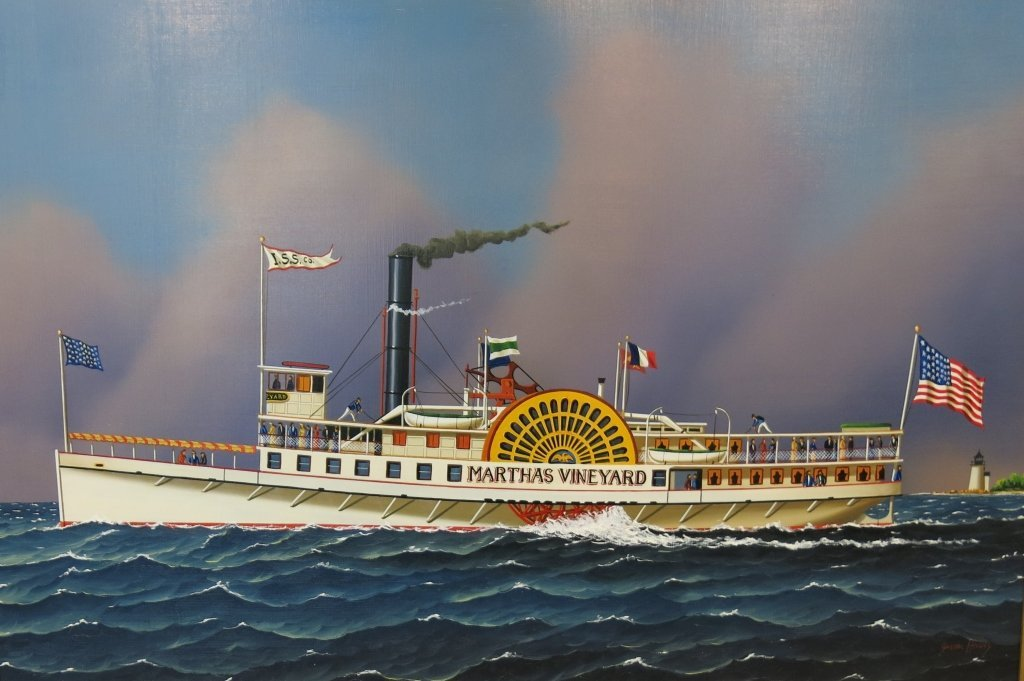 JEROME HOWES OIL PAINTING OF THE MARTHA'S VINEYARD