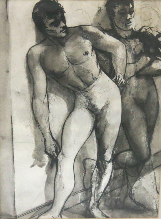 PAIR OF DANIEL RASMUSSEN FIGURE STUDIES OF DANCERS