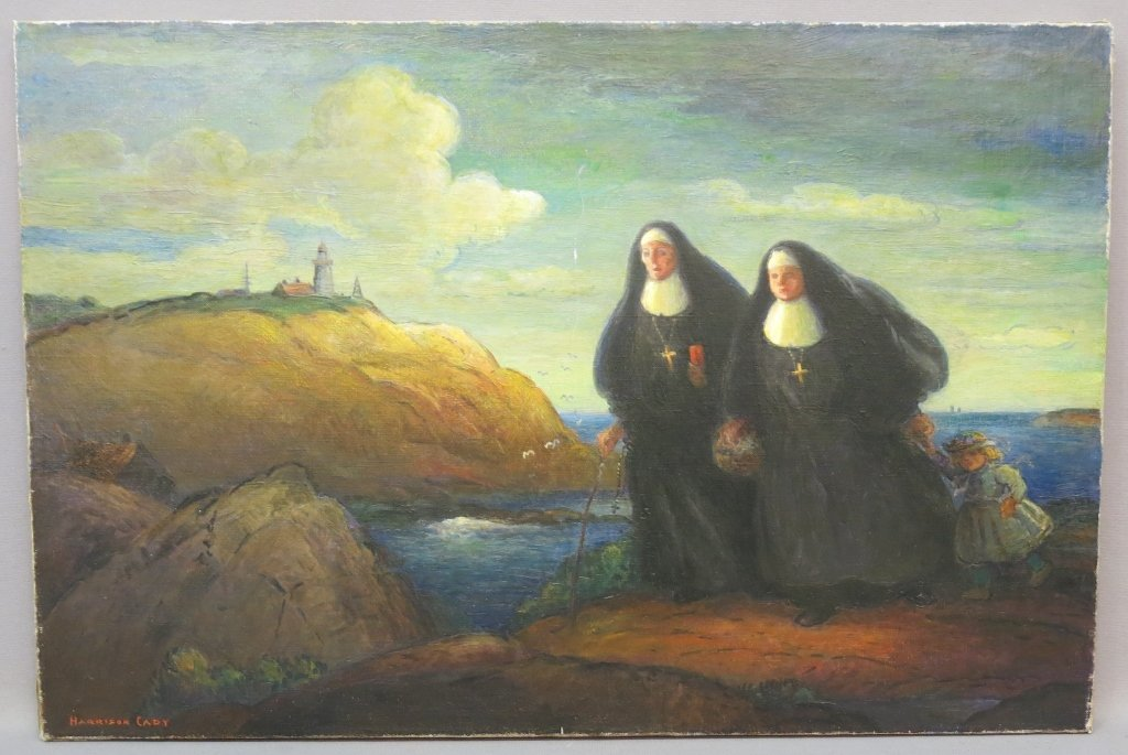 """HARRISON CADY OIL PAINTING - """"THE TWO SISTERS"""""""