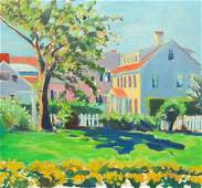 DAVID WILLIAMS OIL ON BOARD OF PROVINCETOWN HOMES