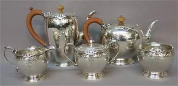 ENGLISH STERLING FIVE PIECE TEA & COFFEE SET