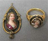 TWO 14K VICTORIAN GOLD JEWELRY PIECES