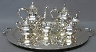 MEXICAN STERLING SILVER SIX PIECE TEA SERVICE