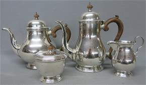 SCHROTH FOUR PIECE STERLING SILVER TEASET