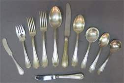 REED AND BARTON PARTIAL STERLING FLATWARE SERVICE