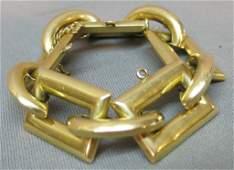 14 KT GOLD DESIGNER LINK BRACELET