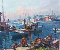 EMILE A. GRUPPE OIL PAINTING OF SMITH COVE