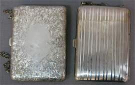 TWO STERLING SILVER LADY'S PURSES