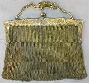 ANTIQUE FRENCH SILVER MESH LADY'S PURSE
