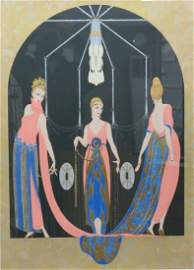 """ERTE SIGNED & NUMBERED SERIGRAPH """"THE THREE GRACES"""