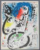 MARC CHAGALL BOOK WITH LITHOGRAPH 1960