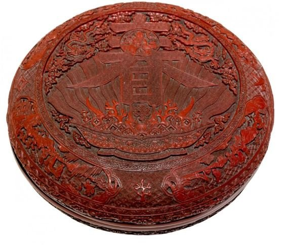 HUGE CHINESE LACQUER   BOX
