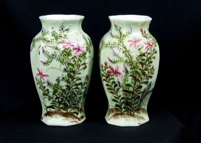 3: PAIR OF LATE 19TH C/EARLY 20TH C CHINESE CELADON VAS