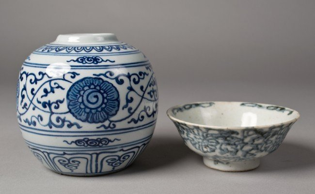 11: 2 PIECES CHINESE MING BOWL