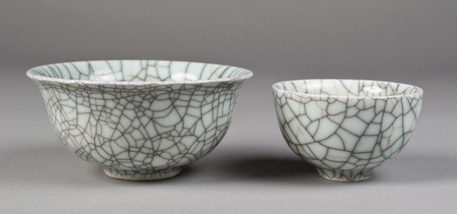 14: 2 PIECES CHINESE GE YAO BOWL