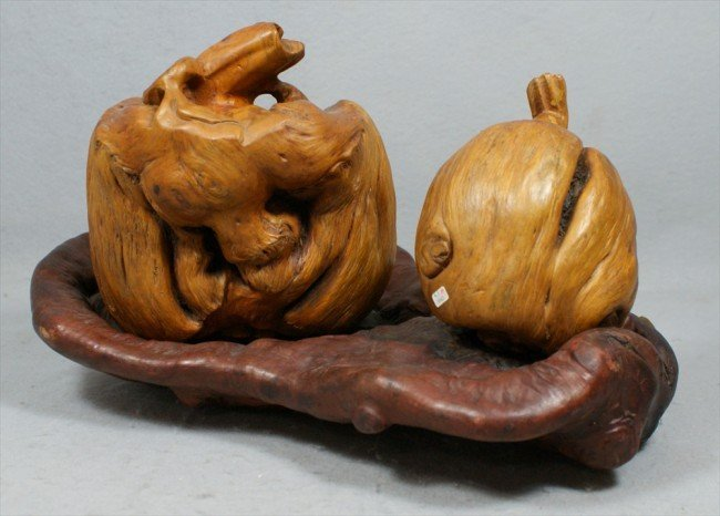 26: CHINESE OLD TREE BURL SCULPTURE,