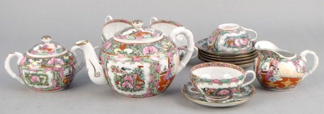 CHINESE QINGLONG TEA SET